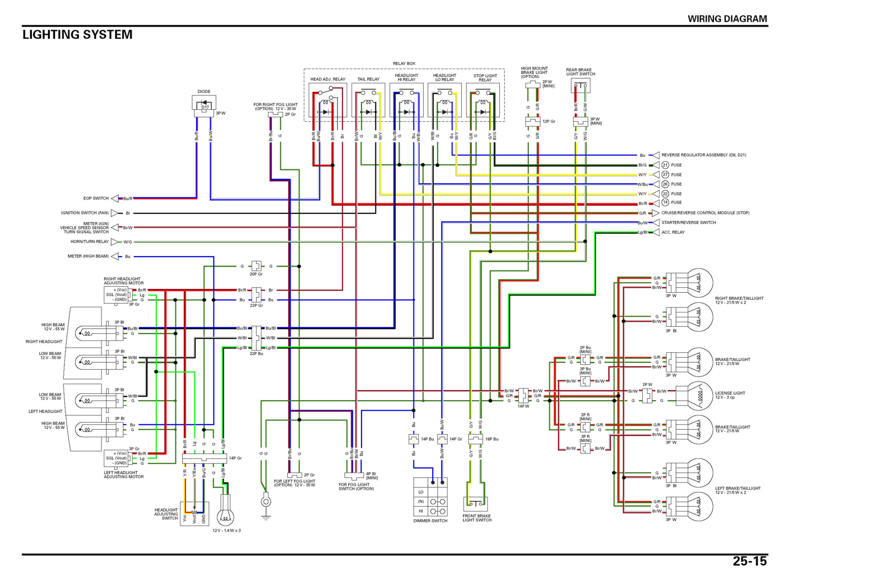gl1800 wiring connector gl1800 wiring diagram